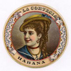 1890s Cuba La Cortesia Cuban Cigar Label
