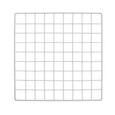 White Wire Grid Panel 14 x 14