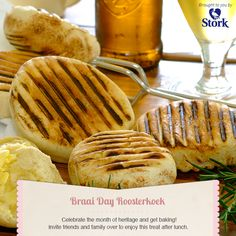 Need a recipe for a savoury snack? Try this braai day roosterkoek recipe for a delicious baked treat today. Stork – love to bake. South African Dishes, South African Recipes, Braai Recipes, Snack Recipes, Wonderful Recipe, Savory Snacks, A Food, Chef Food, Baking Recipes
