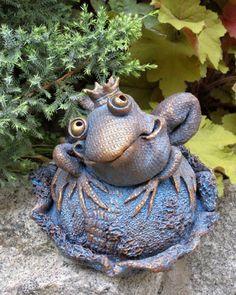 Rzeźba, Ceramika, Ceramika, керамическая скульптура, лягушка.