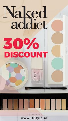 30% Discount on Naked Addict - Collection www.itStyle.ie  #irishblogger #ukblogger #cosmetics #ireland #limerick #dublin #cosmetics #italiancosmetics Concealer Palette, Eyeshadow Palette, Dublin, Ireland, Naked, Addiction, Nail Polish, Cosmetics, Collections