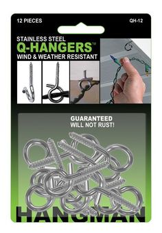 Handy tips and hacks for christmas trees hanger holidays and lights the hangman christmas light hangers are an all year outdoor stainless steel wire holder a simple way to hang holiday lights bird feeders bird houses aloadofball Choice Image
