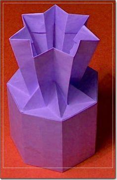 Seven horns vase origami tutorial