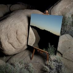 """10 Photos Of Mirrors That Look Like Painted Easels  Artist, Daniel Kukla, photographed mirrors on easels, which showcased the desert's beauty with surprising results. He calls it """"The Edge Effect."""""""