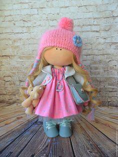 Купить Малышка Лия. - комбинированный, кукла ручной работы, Снежка, большеногая…