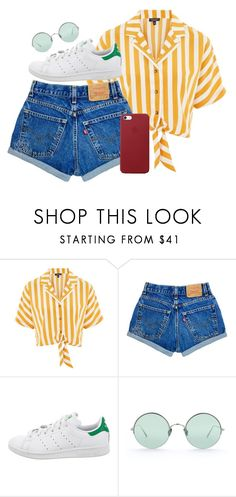 """Just my luck"" by thirteen-hearts ❤ liked on Polyvore featuring Topshop, adidas, Sunday Somewhere and Apple"