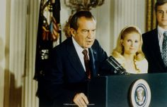Nixon is announcing his resignation in August 9, 1974
