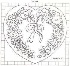 vintage heart wedding rug pattern