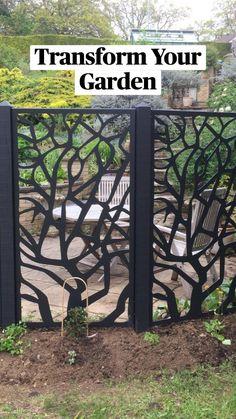 Metal Garden Screens, Garden Screening, Small Garden Design, Garden Trellis, Garden Planning, Outdoor Furniture, Outdoor Decor, Garden Projects, Park