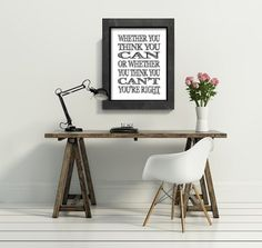 whether you think you can typographic art print by Printpressfmt