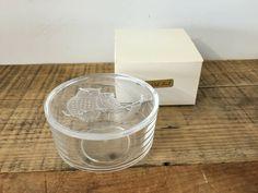 SOLD - Vintage Night Owls Acrylic Bowl w/Lid Trinket Box