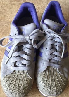 Adidas Originals Superstar for Women Big Kids 5 5 US 2009 Gray with Purple | eBay