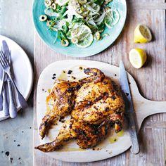 Spatchcock chicken with fennel, watercress & lemon salad