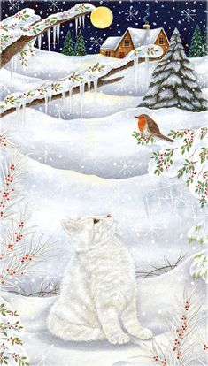 Visitor In The Holly....Anne Mortimer