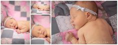 Minnesota Newborn Pictures on homemade quilt in nursery