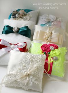 Ivory wedding ring pillow Bearer ring pillow Lace wedding ring