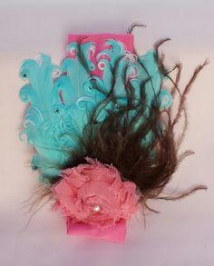 Aqua Feather Headband by PaisleysHairPetals on Etsy, $14.00
