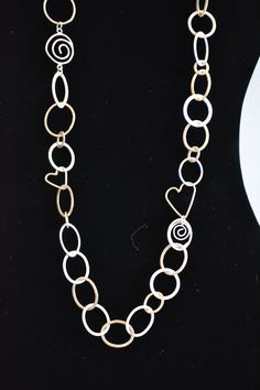 ninetwofive long silver necklace