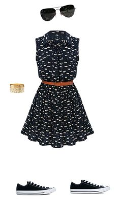 """""""Untitled #5"""" by jcurtis-1 ❤ liked on Polyvore featuring Ray-Ban, Converse and Charlotte Russe"""
