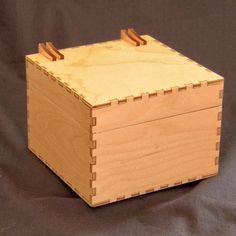 #lasercut birch ply jewellery box.