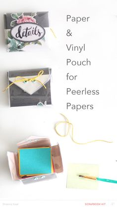Vinyl & Paper Pouch  by ShannaNoel at @studio_calico