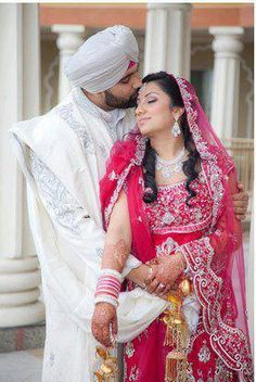 dulhan & dulha indian pakistani bollywood bride and groom desi wedding punjabi sikh