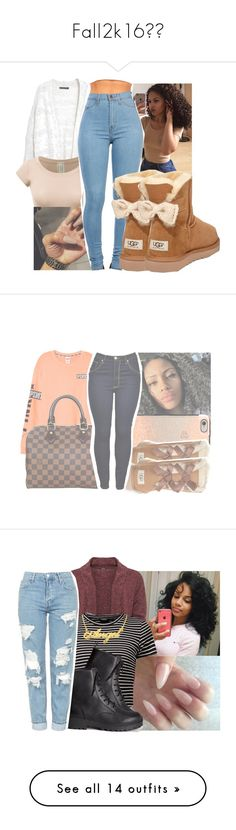 """""""Fall2k16"""" by eazybreezy305 ❤ liked on Polyvore featuring Violeta by Mango, UGG Australia, Louis Vuitton, Casetify, WearAll, H&M, Topshop, cute, sweaterweather and Fall2016"""