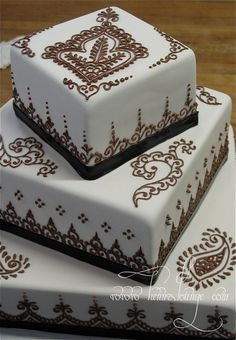 So you have seen cakes nicely stacked but why stop there?  Add color, dimension and make it interesting.