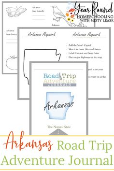 Be ready for your next road trip through Arkansas and keep your kids busy learning with this Arkansas Road Trip Journal. #Arkansas #RoadTrip #RoadTripJournal #Printable #Homeschool #Homeschooling #YearRoundHomeschooling #Geography