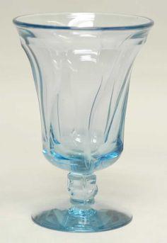 Fostoria JAMESTOWN BLUE Iced Tea Glass...I have 12 ... designer George Sakier for Fostoria