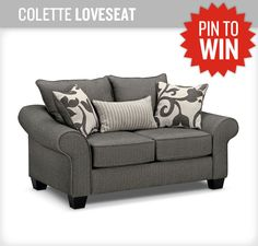 This living room set is one of my favorites! It's so cute! #NewASF #PinItToWinIt