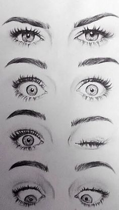 Eye Drawing Tutorials, Drawing Techniques, Drawing Tips, Art Tutorials, Drawing Ideas, Sketch Ideas, Drawing Art, Drawing Faces, Cute Eyes Drawing