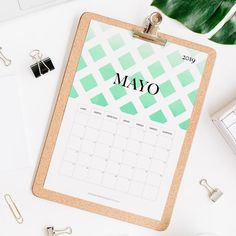 calendario 2019 mayo Calendar 2019 Printable, Print And Cut, Projects To Try, Notebook, Bullet Journal, Pattern, Journal Ideas, Joker, Templates
