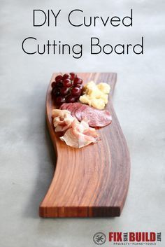 Learn how to make a DIY Curved Cutting Board using the wood bent lamination. This woodworking technique is easier than it looks! Come see the full tutorial video on my site.