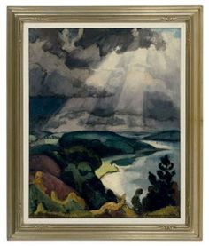 Burst of sunlight on a cloudy day by Einar Wegener