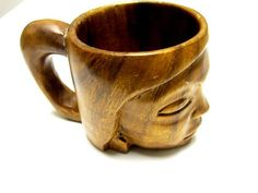 Wooden Cup Monkey Pod Mug Hand Crafted Monkey by sweetie2sweetie, $8.99