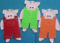 Three Little Pigs Flannel Board Felt Board Story