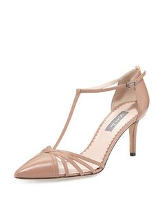 Carrie Leather T-Strap 70mm Pump by SJP by Sarah Jessica Parker at Neiman Marcus.