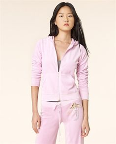 18ff7f9558cb Juicy Couture Velour Track Suit in light pink