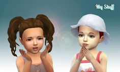 Curls Pigtails for Toddlers at My Stuff • Sims 4 Updates