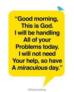 Miraculous Day LOVE this! It's from love and light not fear, shame and intimidation!