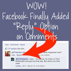 NEW IN FACEBOOK: 3-25-13 It's about darn time #Facebook added reply!! www.facebook.com/atiattractionmareting