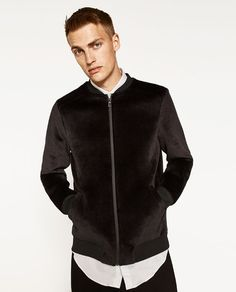 ZARA - MAN - PLUSH BOMBER JACKET