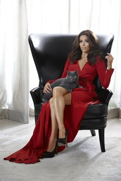 Eva Longoria. She loves that cat.