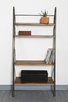 4040 Locust Leaning Wall Shelf from Urban Outfitters. Saved to My Wishlist. Shop more products from Urban Outfitters on Wanelo. Leaning Wall Shelf, Leaning Bookshelf, Bookshelves, Wooden Shelves, Wall Shelves, Home Additions, Apartment Living, Dream Apartment, Decoration