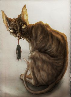 Old sphynx lady by buit.deviantart.com on @DeviantArt