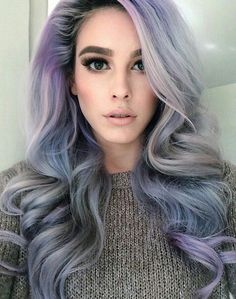 Top hair colors trends to try this fall / winter season. This fall we're seeing a vast array of usual hair color trends. While bold hair colors … Hair Styles 2016, Long Hair Styles, Corte Y Color, Coloured Hair, Dye My Hair, Pastel Hair, Ombre Hair, Mermaid Hair, Hair Dos