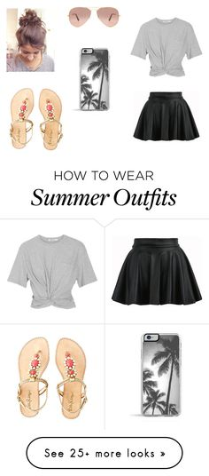 """""""Summer Outfit #1"""" by cheesecakegeek on Polyvore featuring T By Alexander Wang, Ray-Ban, Lilly Pulitzer and Zero Gravity"""