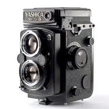 First camera: Yashica-A twin lens reflex bought from Brooks Cameras in San Francisco, c1972.