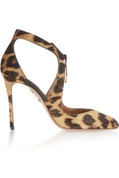 Aquazzura | Stella leopard-print calf hair pumps | NET-A-PORTER.COM